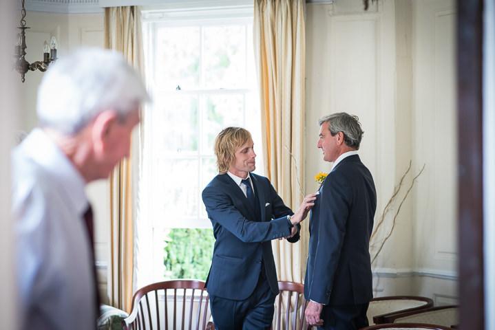 Homespun Wedding groomsmen at Frithsden Vineyard Photography