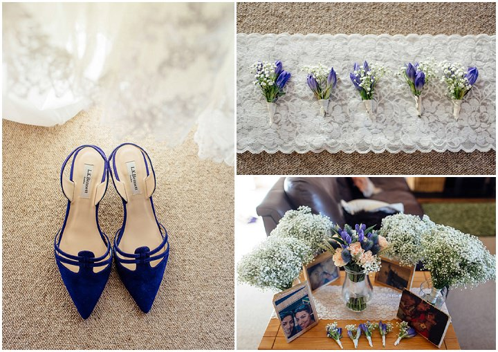 Wedding at Kilminorth Cottages in Looe By Freckle Photography shoes and flowers