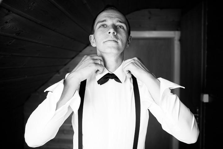 Intimate Woodland Wedding groom by Tony Romero Photography