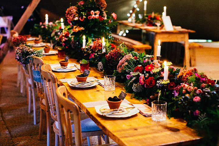 English Country Garden Table scape Wedding Inspiration