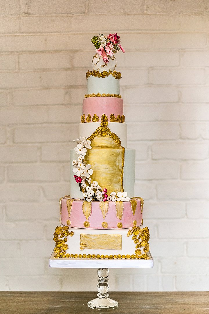 Pastel Colours and Garden Wedding cake Inspiration