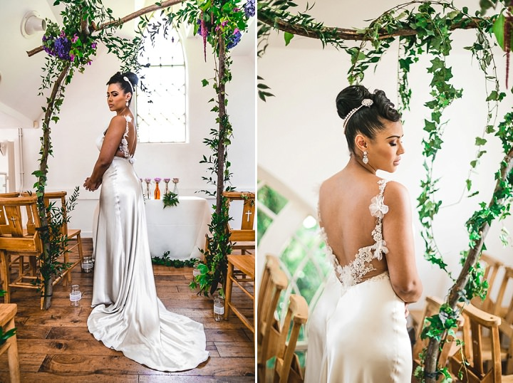 Pastel Colours and Garden Wedding Inspiration Backless dress