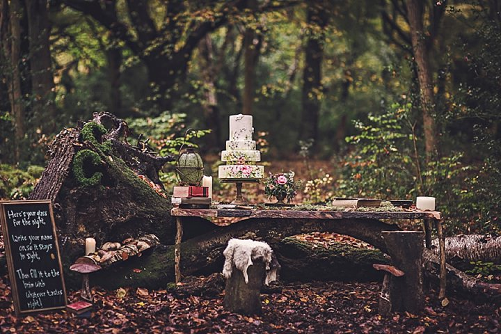 Magical Midsummers Night woodland cake Dream Wedding Inspiration