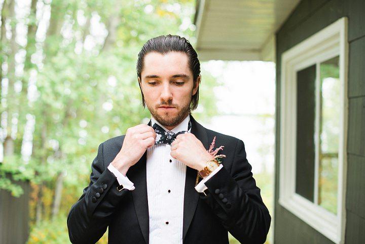 Canadian Camp groom prep Wedding By Kristyn Harder Photography