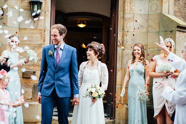 Back Garden Welsh Wedding confetti By Kelly J Photography