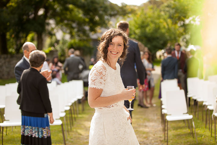 Outdoors In Anglesey Wedding happy bride By Gill Jones Photography