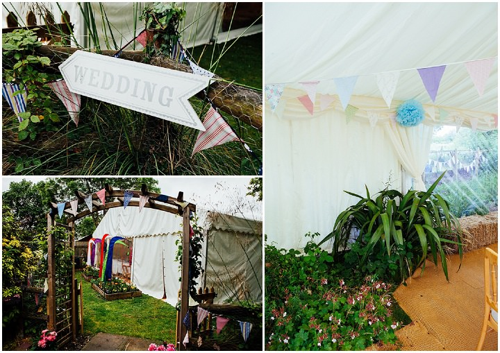 Back Garden setting Welsh Wedding By Kelly J Photography