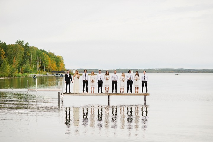Canadian Camp Wedding bridal party By Kristyn Harder Photography