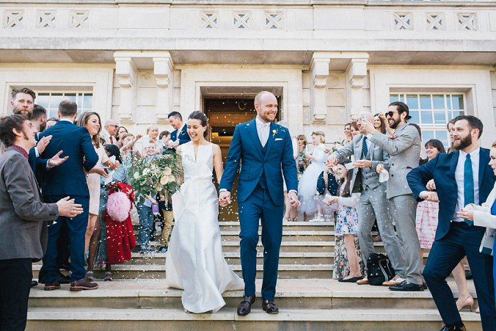 Wedding photography confetti by Brighton Photographer Emma Lucy