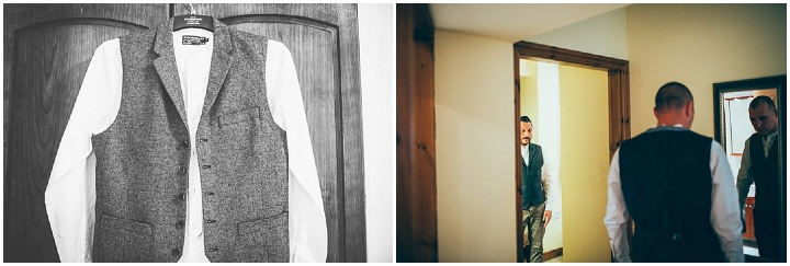 Wedding in Wolfen Mill Lancashire groom prep By Fairclough Photography