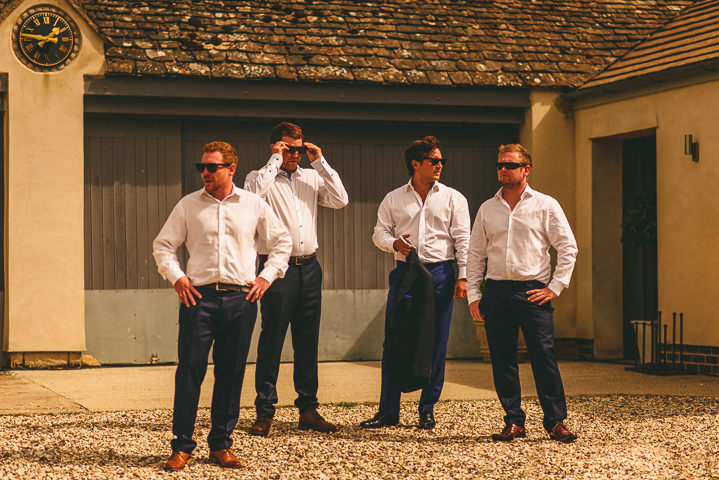 Country Garden groomsmen Cotswolds Wedding By Miki Photography