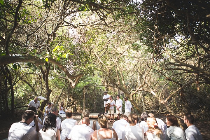Beach Wedding ceremony setting in Mozambique By The Shank Tank