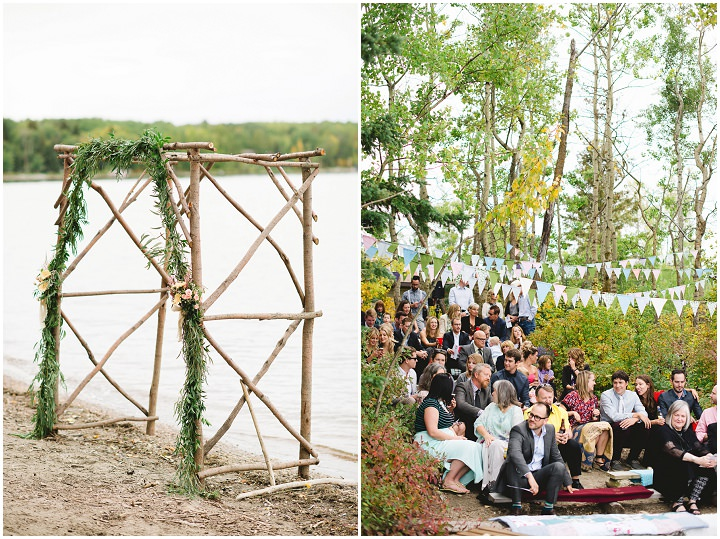 Canadian Camp Wedding guests By Kristyn Harder Photography