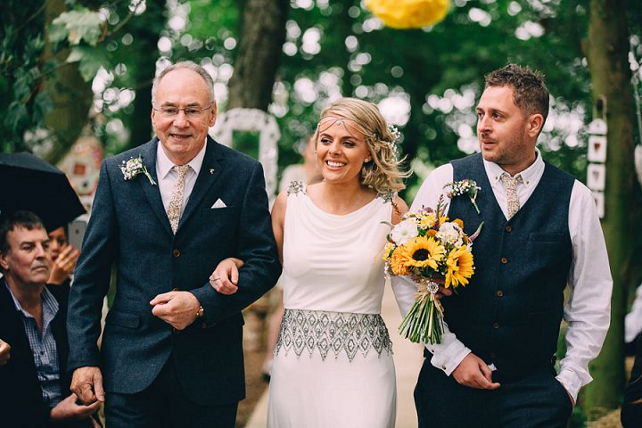 Festival Wedding Bohemium Bride at Stanley Villa Farm in Preston By Mike Plunkett Photography