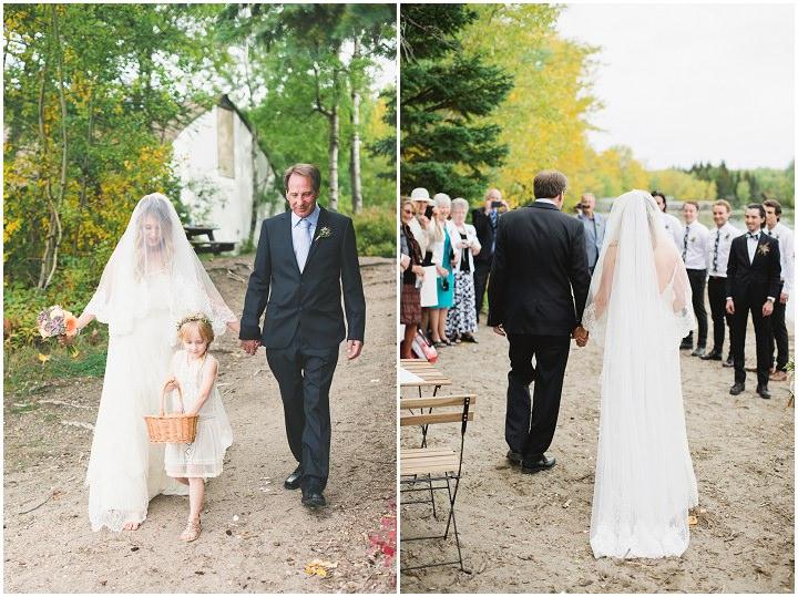 Canadian Camp Wedding flower girl By Kristyn Harder Photography