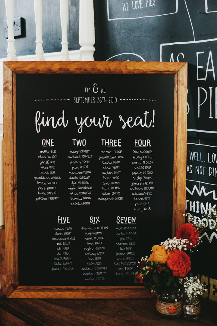 Hampstead table plan and Prince Albert in Camden Wedding By Craig and Kate