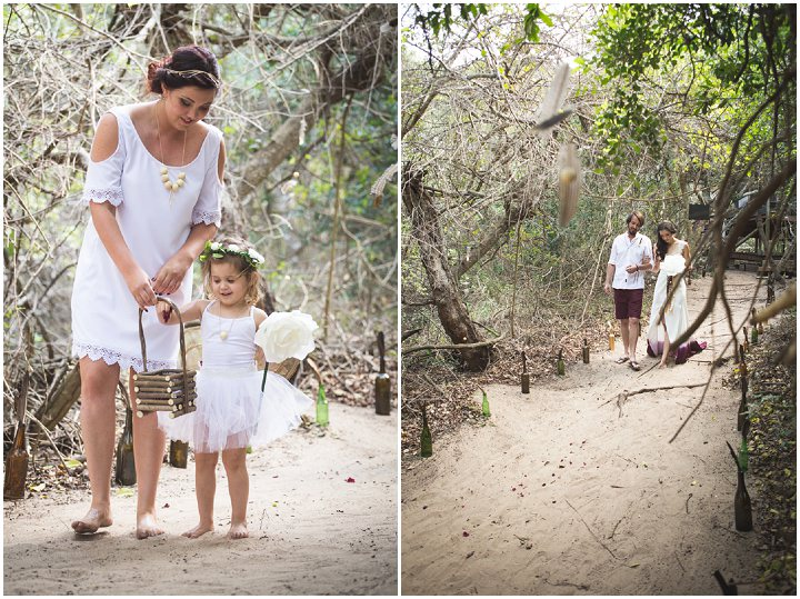 Beach Wedding flower girl in Mozambique By The Shank Tank