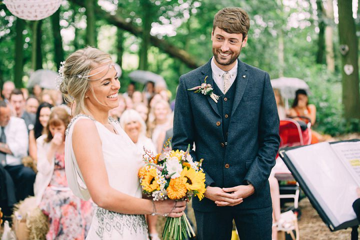 Festival Wedding vows at Stanley Villa Farm in Preston By Mike Plunkett Photography