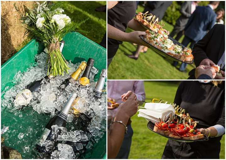 Outdoors In Anglesey Wedding canapes By Gill Jones Photography