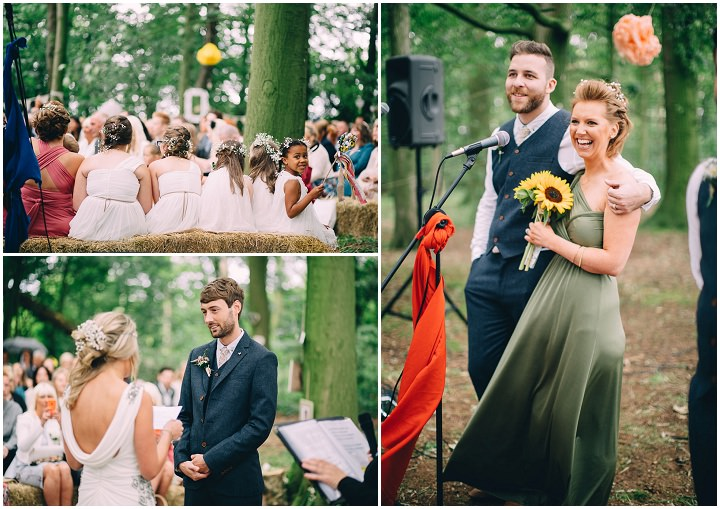 Festival Wedding readings at Stanley Villa Farm in Preston By Mike Plunkett Photography