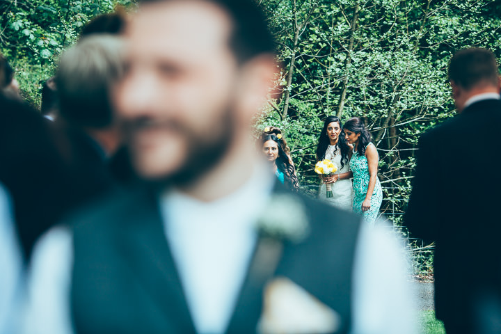Wedding in Wolfen Mill brides arrival Lancashire By Fairclough Photography