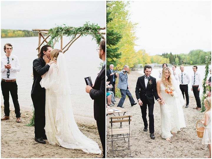 Canadian Camp Wedding ceremony By Kristyn Harder Photography