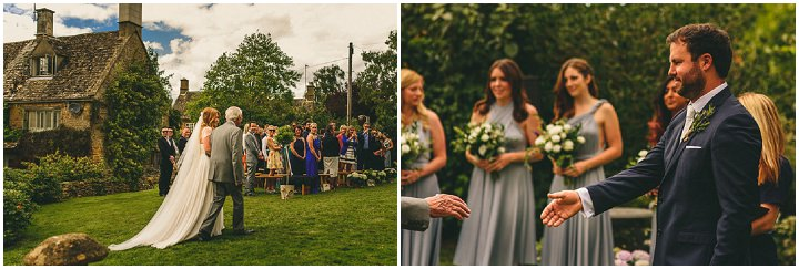 Country Garden brides arrival Cotswolds Wedding By Miki Photography