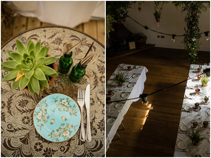 Outdoors In Anglesey Wedding table setting By Gill Jones Photography