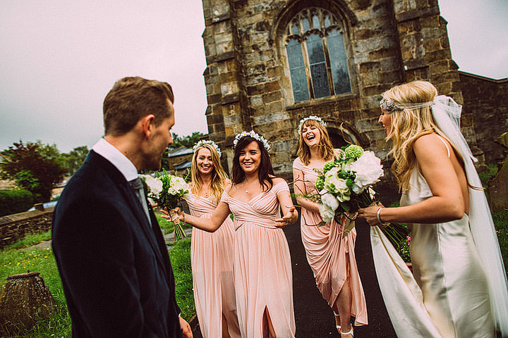 Book Themed Lancashire Wedding bridesmaids By Lawson Photography