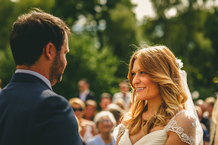 Country Garden Cotswolds Wedding vows By Miki Photography
