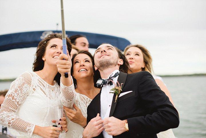 Canadian Camp Wedding selfie By Kristyn Harder Photography