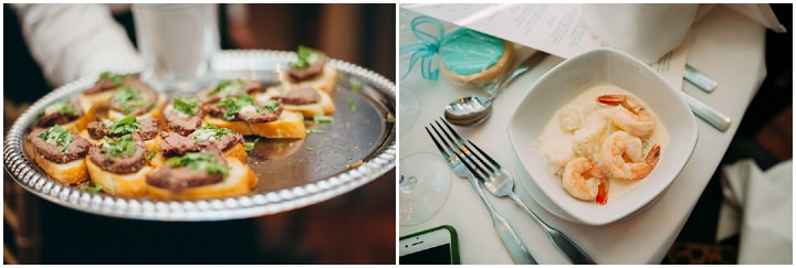 Ruth and Nick's Gorgeous Georgia Wedding canapes with First Look By Parenthesis Photography