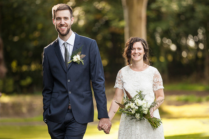 Outdoors In Anglesey Wedding bride and groom By Gill Jones Photography