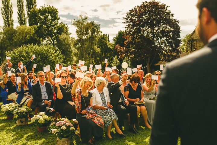Country Garden wedding ceremony Cotswolds Wedding By Miki Photography