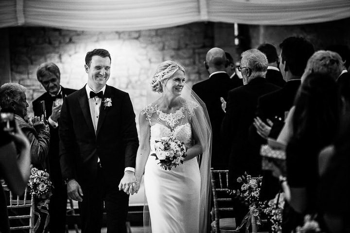 New Years Eve Wedding at The Great Tythe Barn just married By Kevin Belson Photography