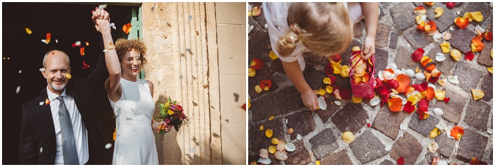 South of France Wedding confetti By Time Of Joy Photography