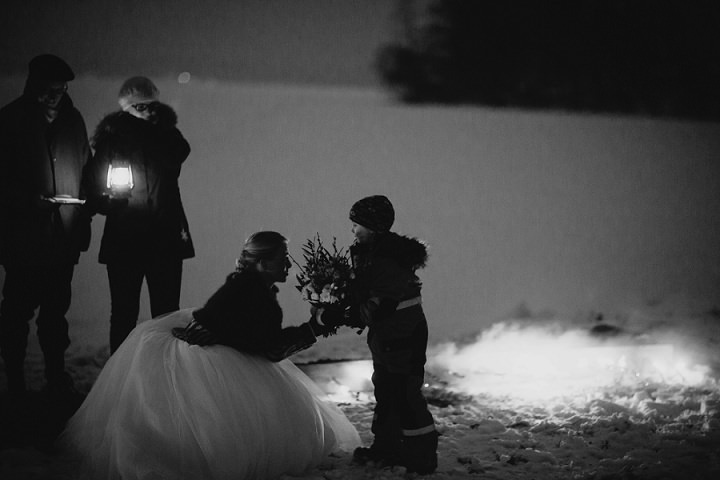 Winter Forest Wedding in Sweden By Loke Roos Photography