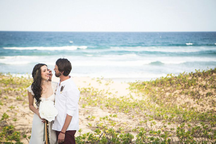 Beach Wedding bride and groom in Mozambique By The Shank Tank