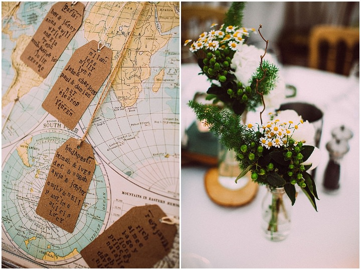 Book Themed Lancashire Wedding table plan By Lawson Photography