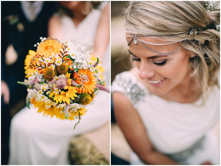 Festival Wedding flowers at Stanley Villa Farm in Preston By Mike Plunkett Photography