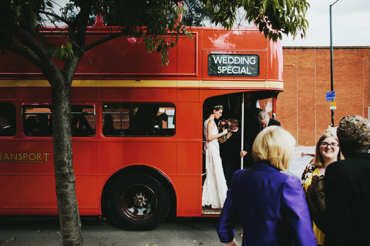 Hampstead and Prince Albert in Camden Wedding London Red Bus By Craig and Kate