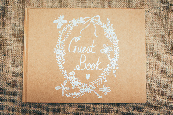 Wedding in Wolfen Mill guest book Lancashire By Fairclough Photography