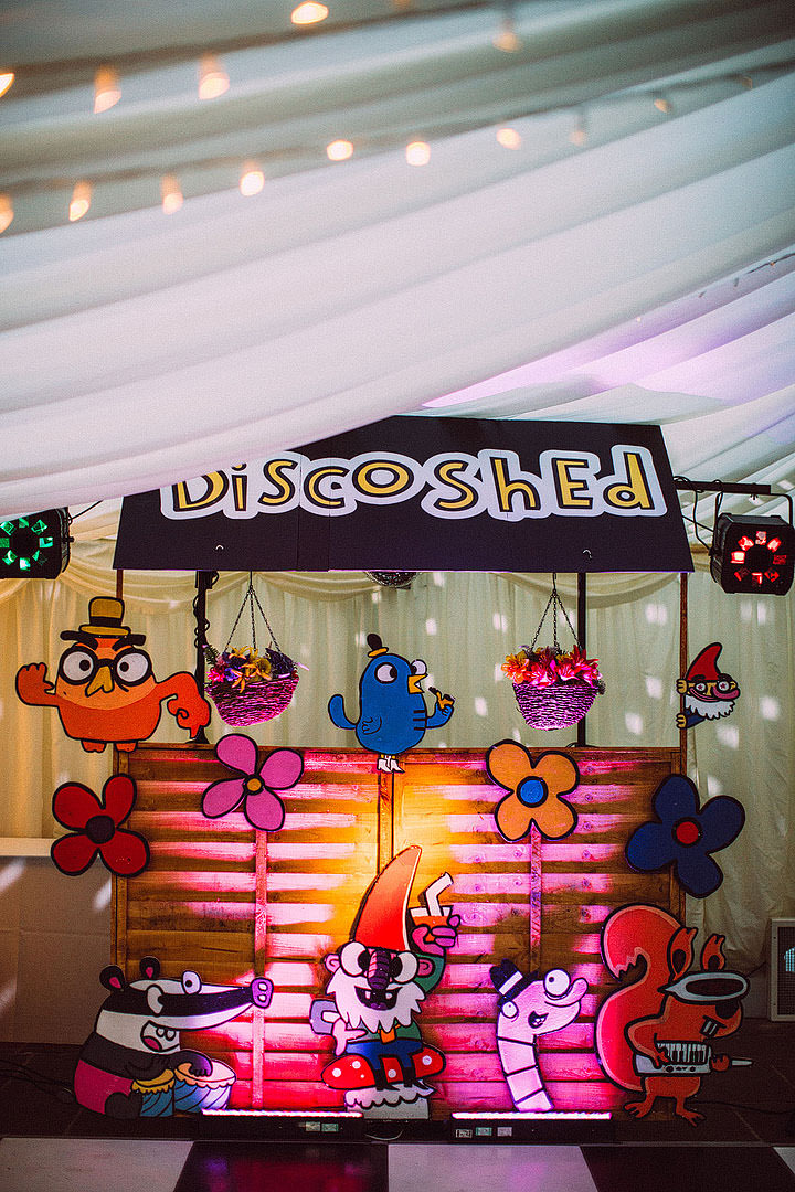 Book Themed Lancashire Wedding Disco Shed By Lawson Photography