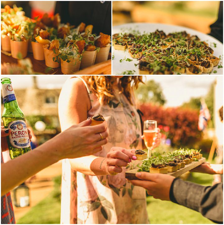 Country Garden wedding food in the Cotswolds Wedding By Miki Photography