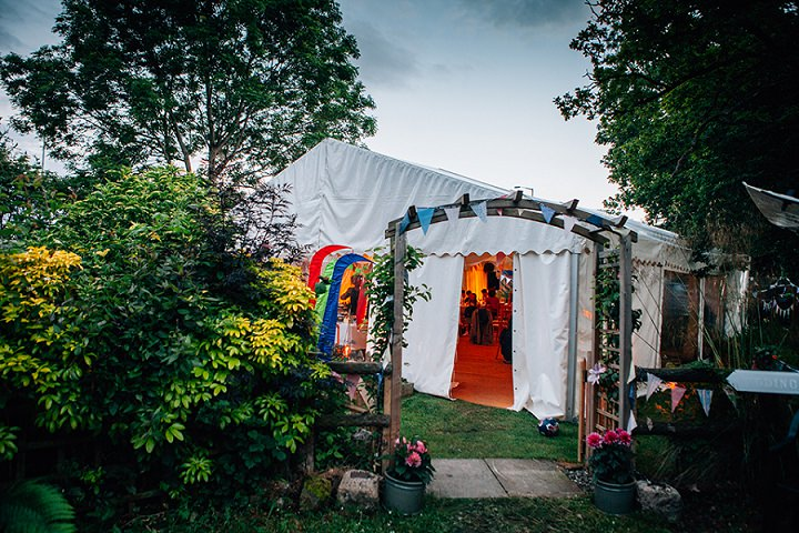 Back Garden Welsh Wedding setting By Kelly J Photography