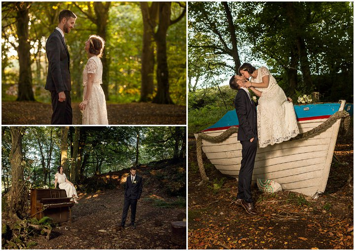 Outdoors In Anglesey Wedding bride and groom portraits By Gill Jones Photography