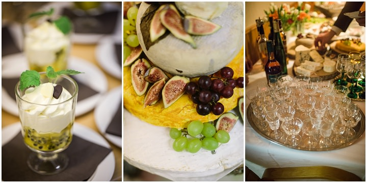 Winter Forest Wedding food in Sweden By Loke Roos Photography