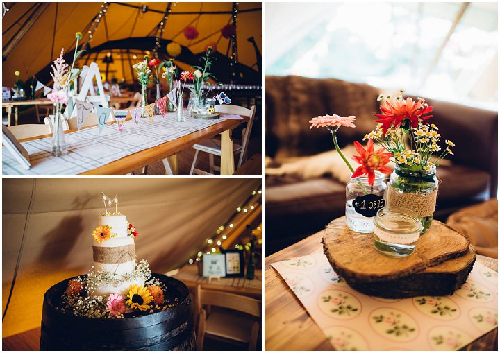 Rustic Festival Wedding at Stanley Villa Farm in Preston By Mike Plunkett Photography
