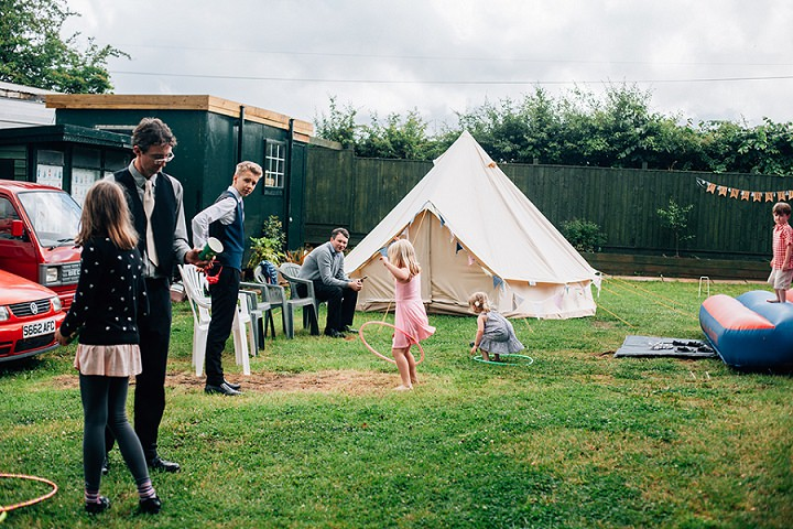 Back Garden laid back Welsh Wedding By Kelly J Photography