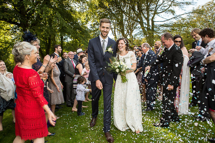 Outdoors In Anglesey Wedding confetti throw By Gill Jones Photography